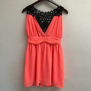 NWT Neon Coral Charlotte Russe top size M